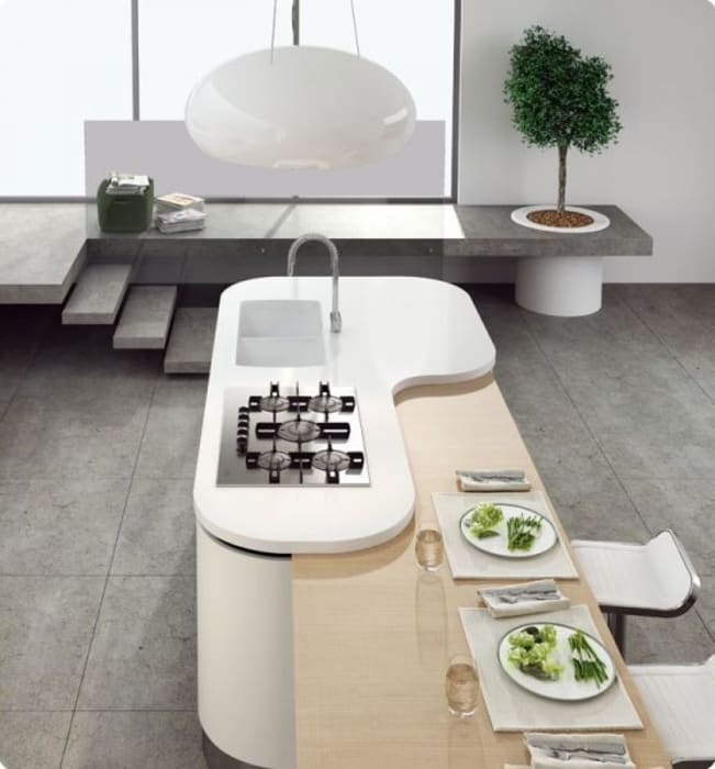 Modello ASIA: Cucina in stile in stile Moderno di Diemme Cucine