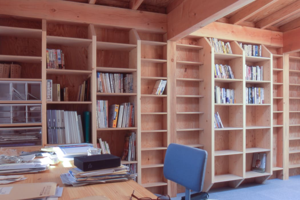 2階書斎: 家山真建築研究室 Makoto Ieyama Architect Officeが手掛けた家です。