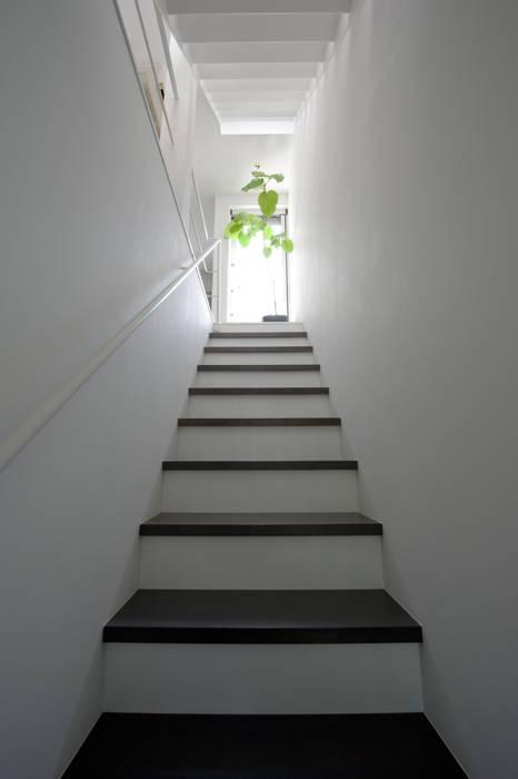 階段(1F~2F) 余田正徳/株式会社YODAアーキテクツ モダンスタイルの 玄関&廊下&階段