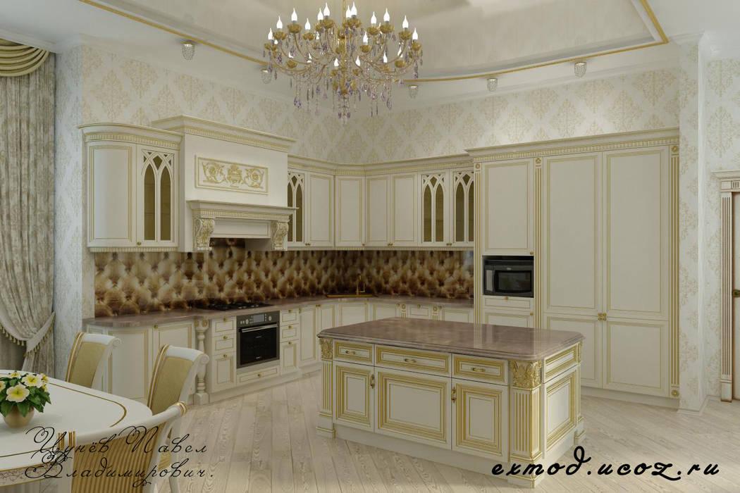 Дом в Черкесске. Кухня: Кухни в . Автор – Цунёв_Дизайн. Студия интерьерных решений.