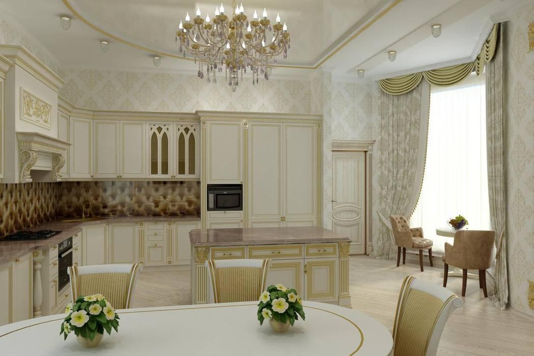 Дом в Черкесске. Кухня Кухня в классическом стиле от Цунёв_Дизайн. Студия интерьерных решений. Классический
