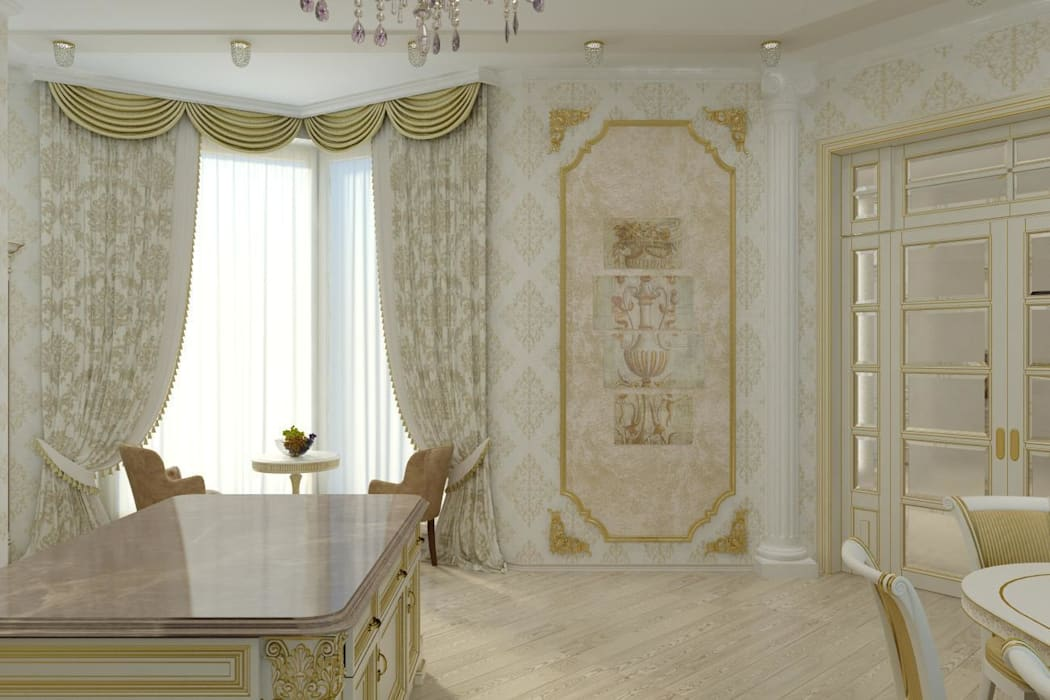 Дом в Черкесске. Кухня: Кухни в . Автор – Дизайн студия 'Exmod' Павел Цунев