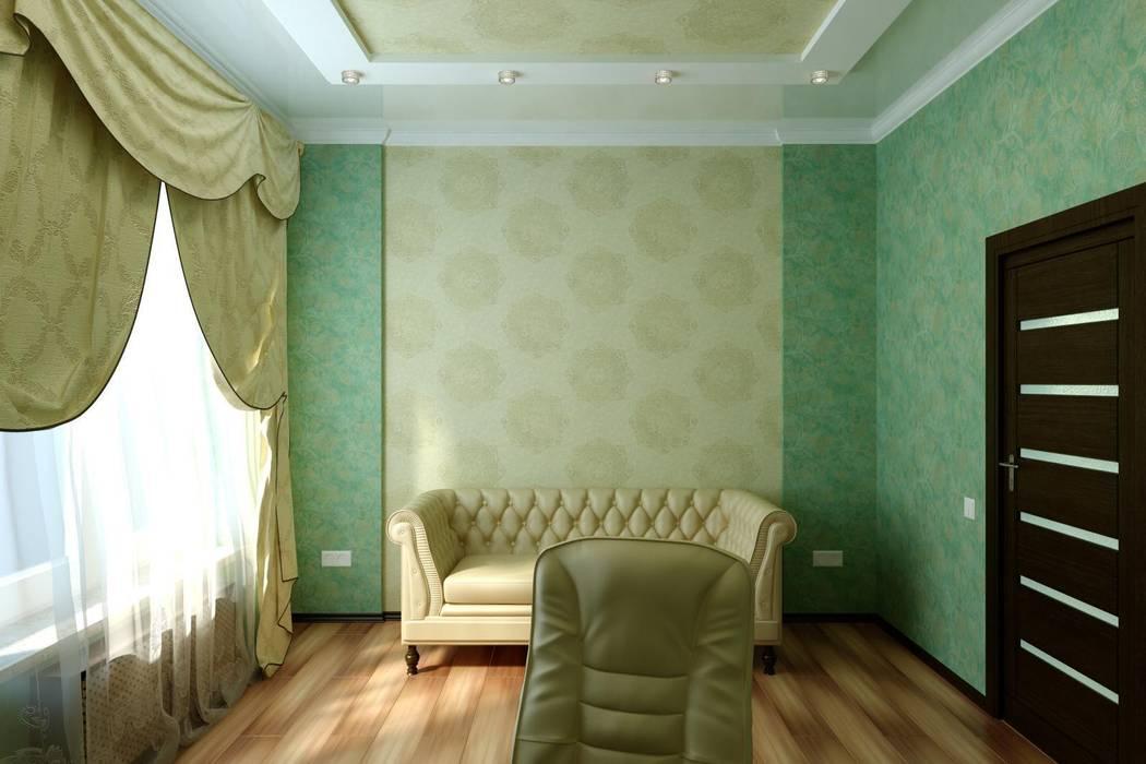 Кабинет в современной классике: Рабочие кабинеты в . Автор – Дизайн студия 'Exmod' Павел Цунев