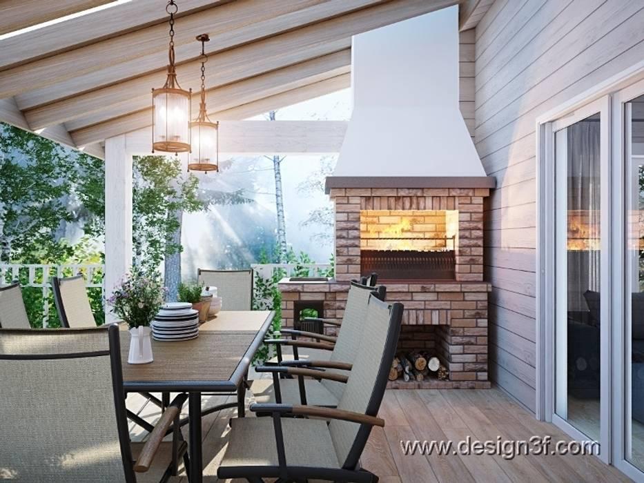 Modern Terrace by студия Design3F Modern