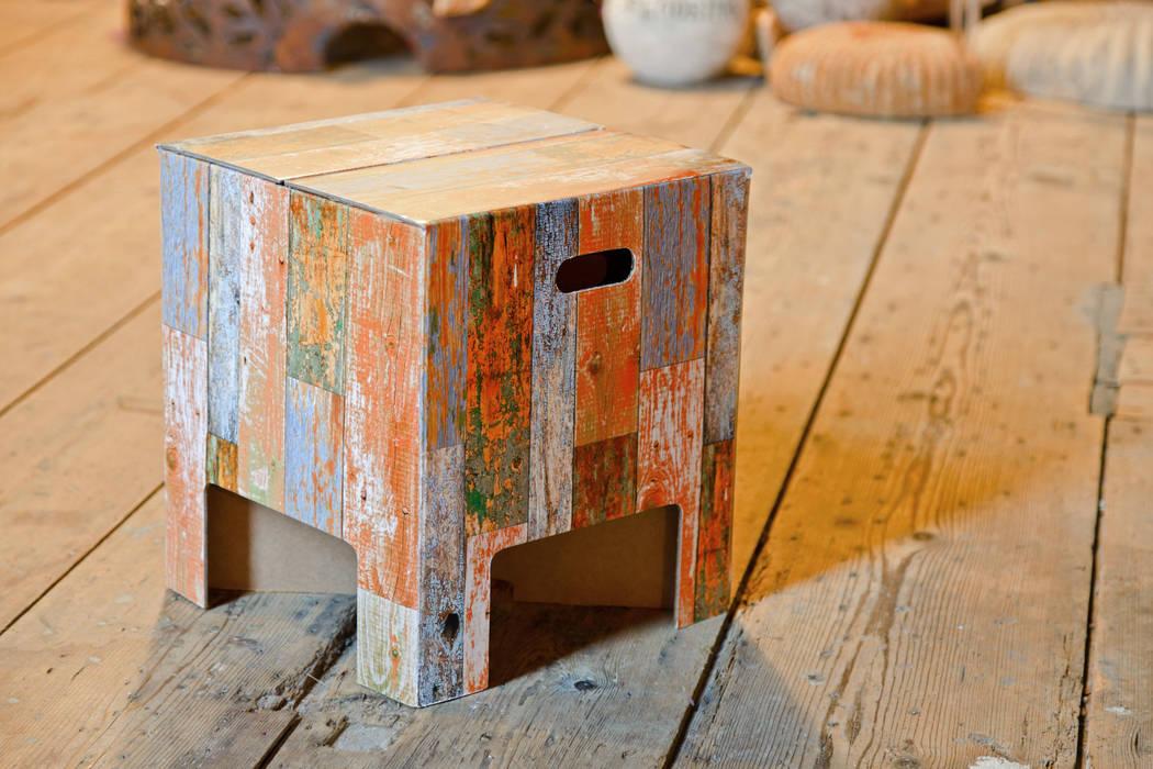 SCRAP WOOD Dutch Design Chair:  Wohnzimmer von Dutch Design,Rustikal