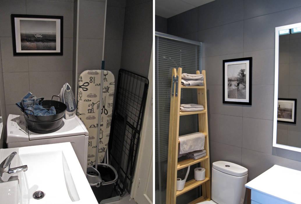 baño en Chamberí, Madrid: Baños de estilo ecléctico de CarlosSobrinoArquitecto