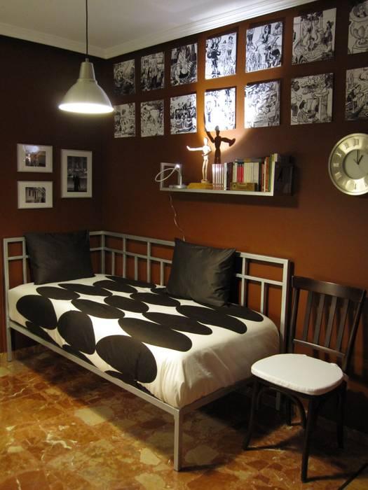 dormitorio en Valladolid Dormitorios de estilo ecléctico de CarlosSobrinoArquitecto Ecléctico