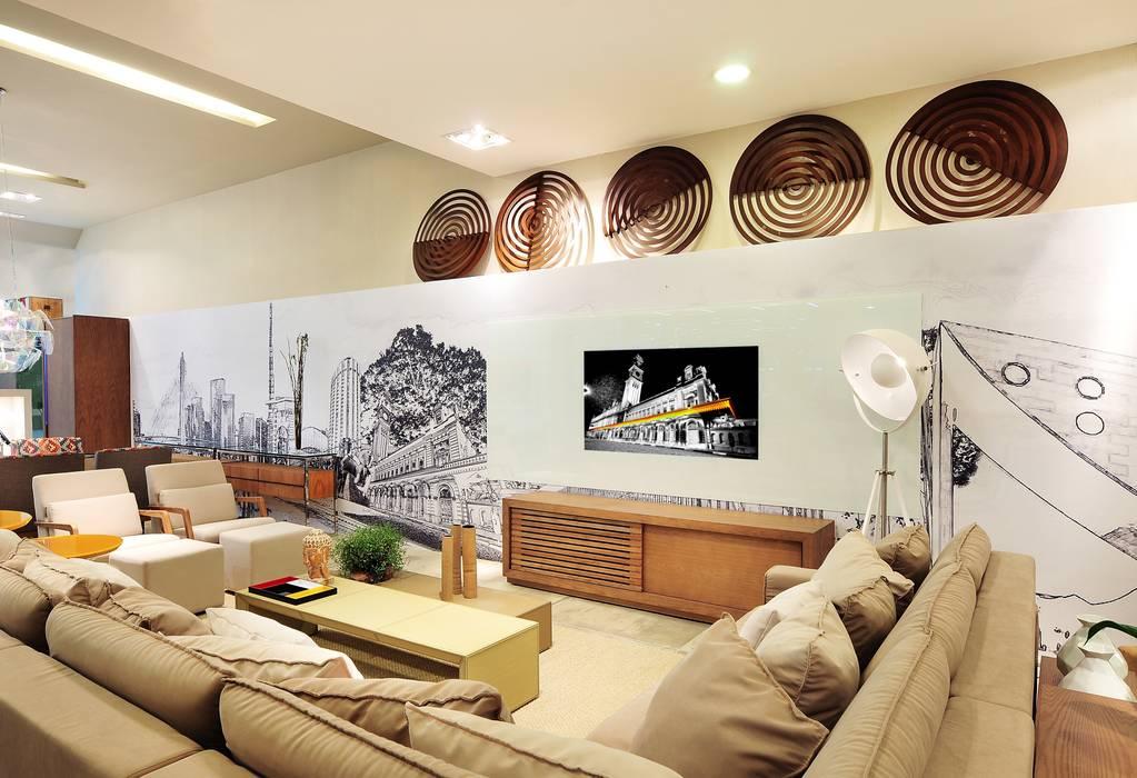LOFT DA MULHER CONTEMPORÂNEA por Adriana Scartaris: Casas  por Adriana Scartaris: Design e Interiores em São Paulo,Eclético