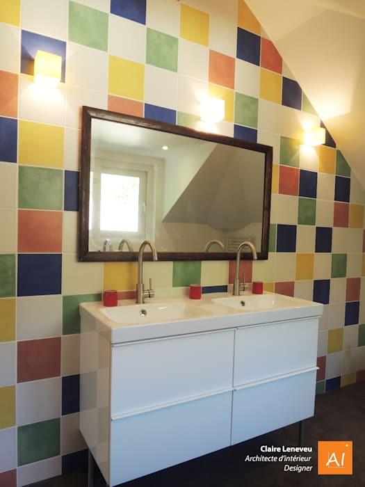 Salle de bain des petits-enfants Salle de bain moderne par Claire Leneveu Moderne