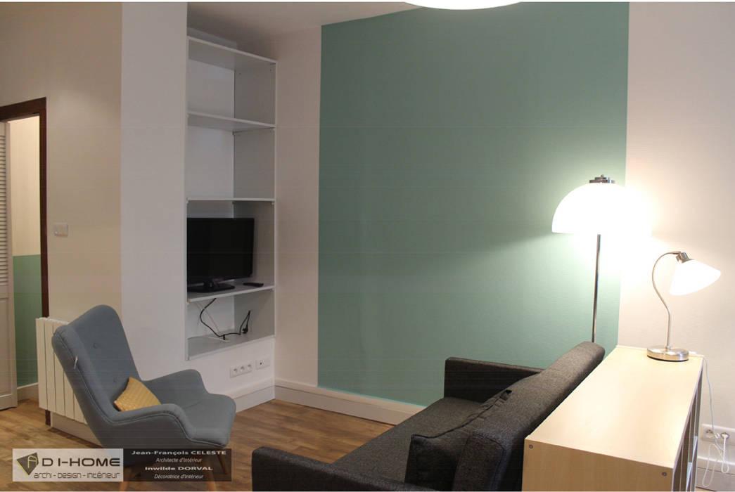 Appartement locatif T2 à Strasbourg: Salon de style  par Agence ADI-HOME,