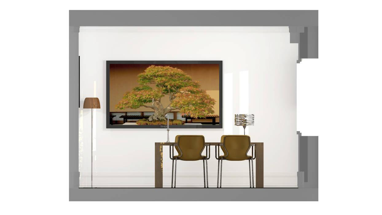 Architecture d'intérieur - Appartement Bordeaux, France: Salle à manger de style de style Moderne par Sandra Hisbèque