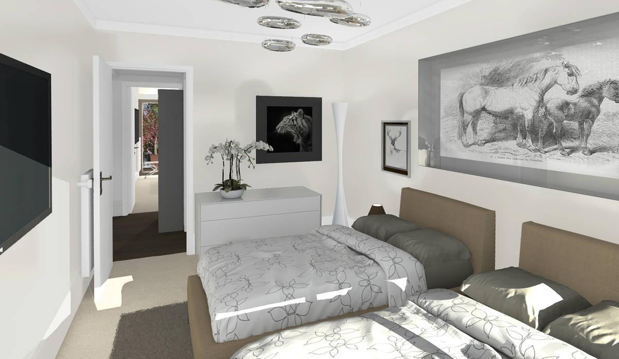 Architecture d'intérieur - Appartement Bordeaux, France Chambre moderne par Sandra Hisbèque Moderne