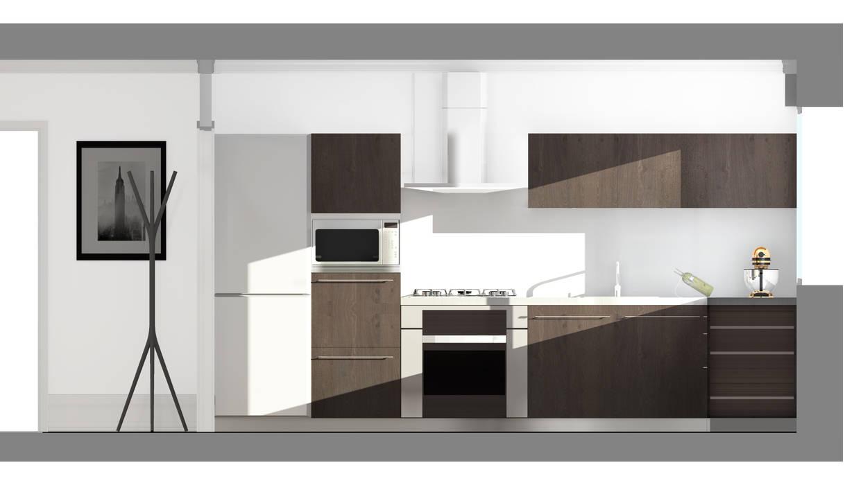 Architecture d'intérieur - Appartement Bordeaux, France: Cuisine de style de style Moderne par Sandra Hisbèque