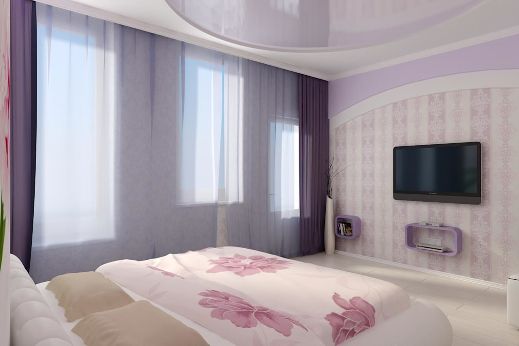 Идея для гардеробной в спальне.: Спальни в . Автор – Цунёв_Дизайн. Студия интерьерных решений.