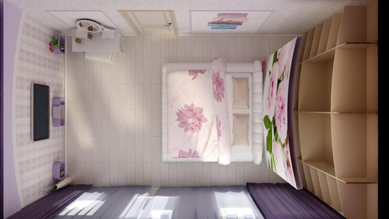 Идея для гардеробной в спальне.: Спальни в . Автор – Цунёв_Дизайн. Студия интерьерных решений., Тропический