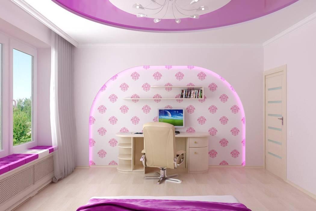 Детская г. Михайловск Детская комнатa в тропическом стиле от Цунёв_Дизайн. Студия интерьерных решений. Тропический