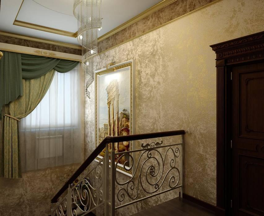Частный дом в Черкесске.: Коридор и прихожая в . Автор – Дизайн студия 'Exmod' Павел Цунев