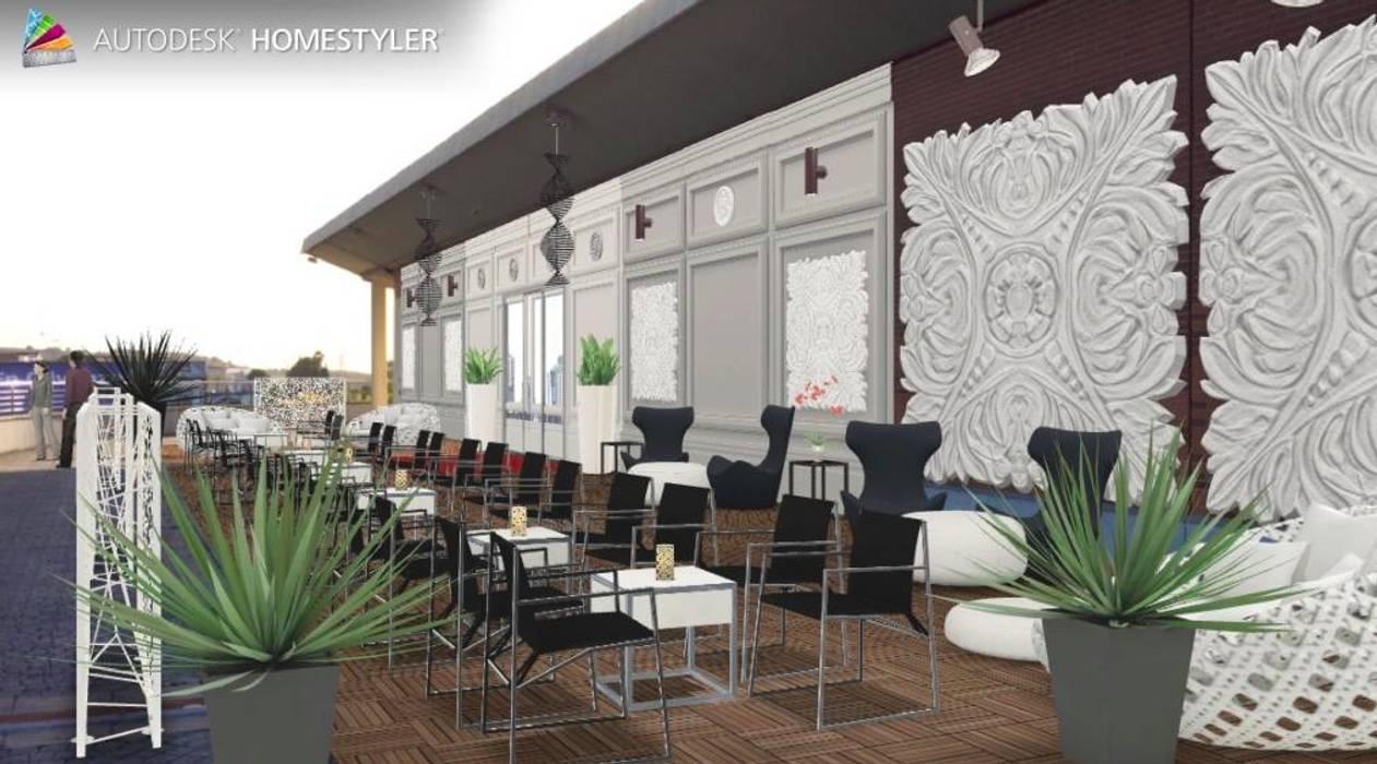 Bakara GL!LabDesign Balcones y terrazas de estilo asiático