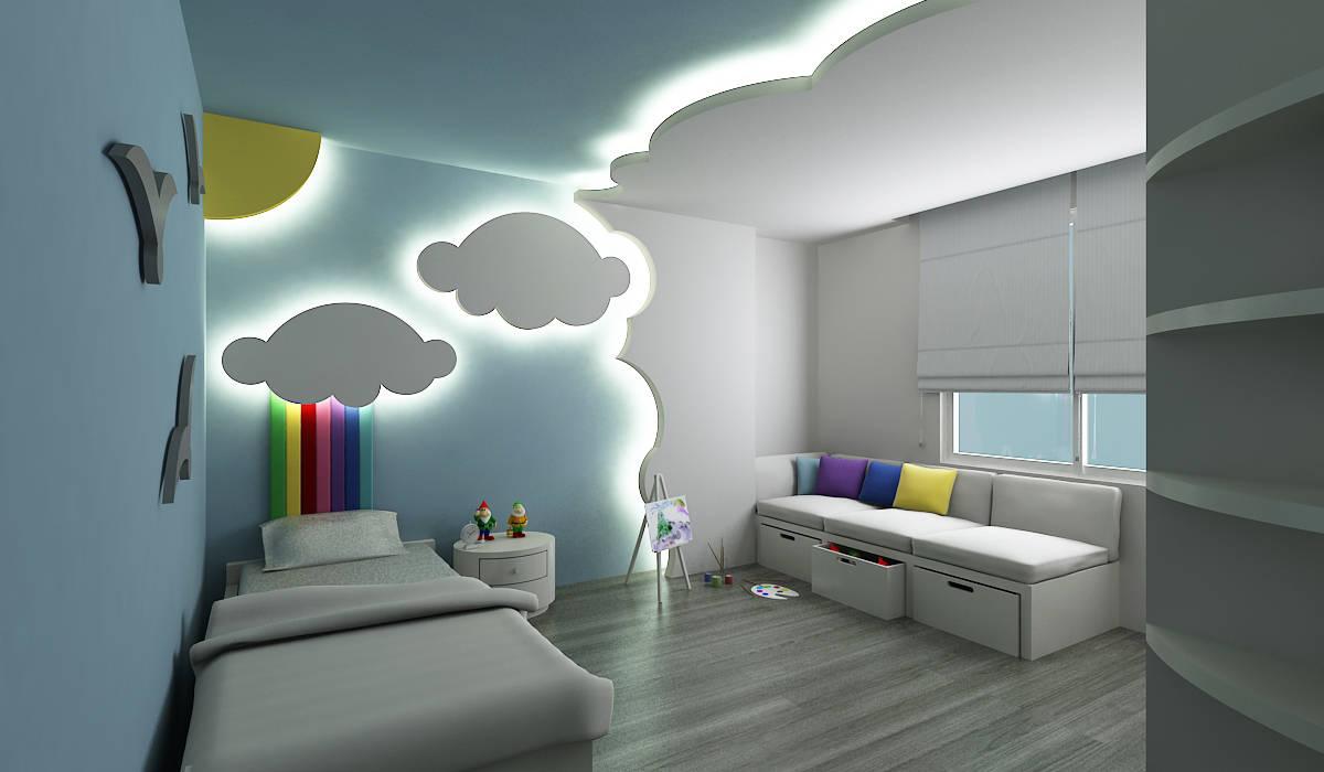 Habitaciones para niños de estilo moderno de Niyazi Özçakar İç Mimarlık Moderno