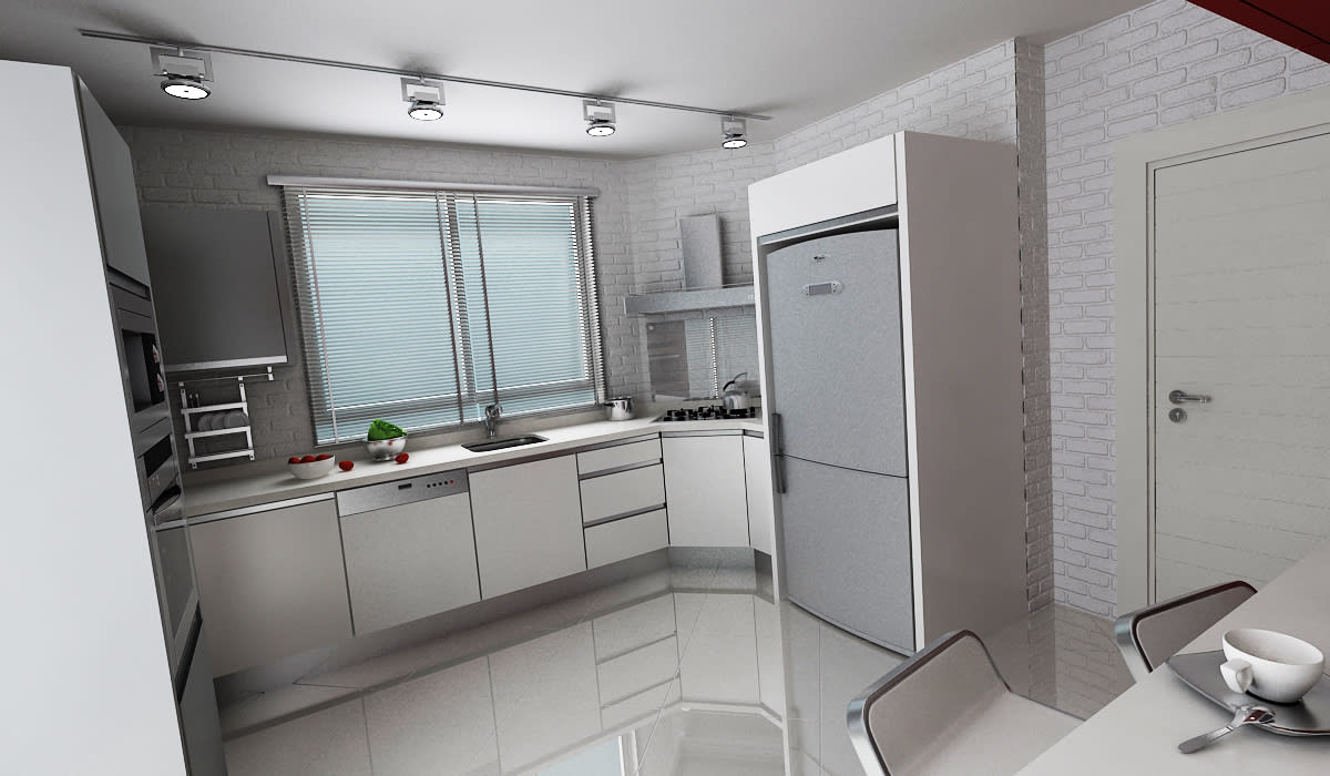 E.K. EVİ Modern Mutfak Niyazi Özçakar İç Mimarlık Modern