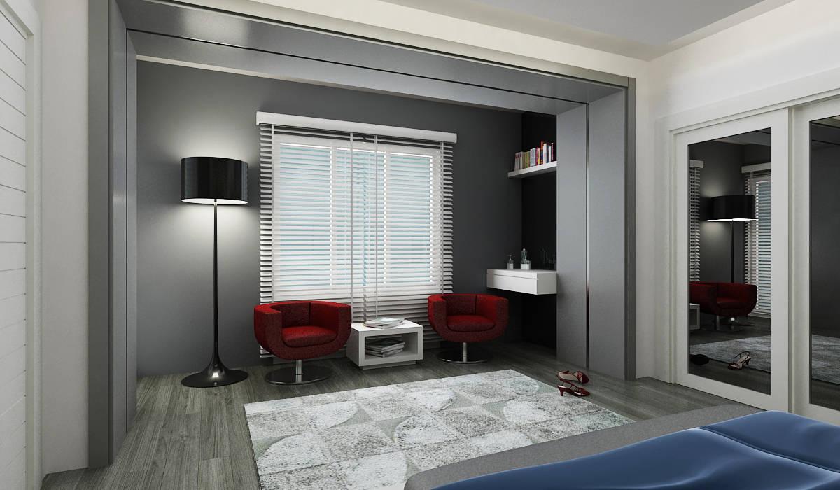E.K. EVİ Modern Yatak Odası Niyazi Özçakar İç Mimarlık Modern