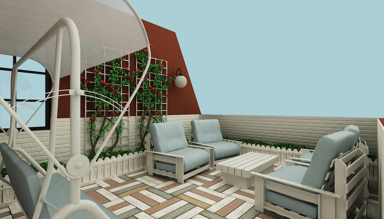 Eclectic style balcony, porch & terrace by Niyazi Özçakar İç Mimarlık Eclectic