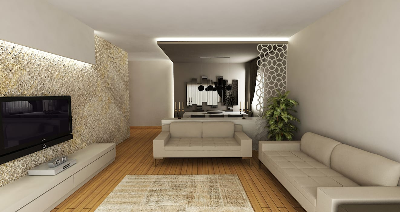 Salas de estilo moderno de Niyazi Özçakar İç Mimarlık Moderno