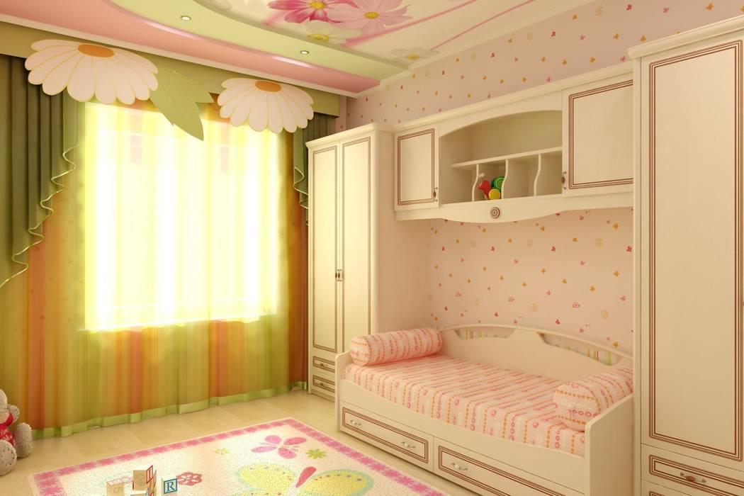 Детская в частном доме: Спальни в . Автор – Дизайн студия 'Exmod' Павел Цунев