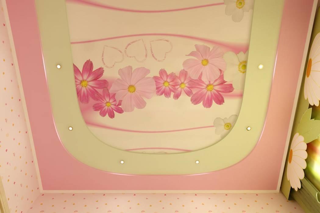 Детская в частном доме Спальня в эклектичном стиле от Цунёв_Дизайн. Студия интерьерных решений. Эклектичный