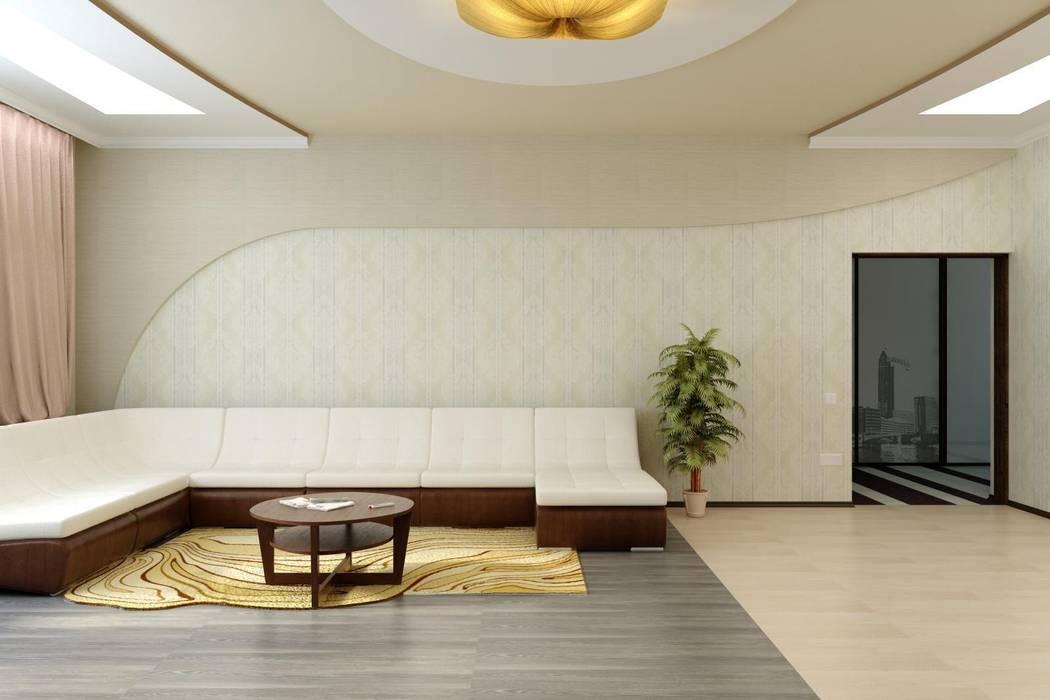 Гостиная г. Новоалександровск: Гостиная в . Автор – Дизайн студия 'Exmod' Павел Цунев