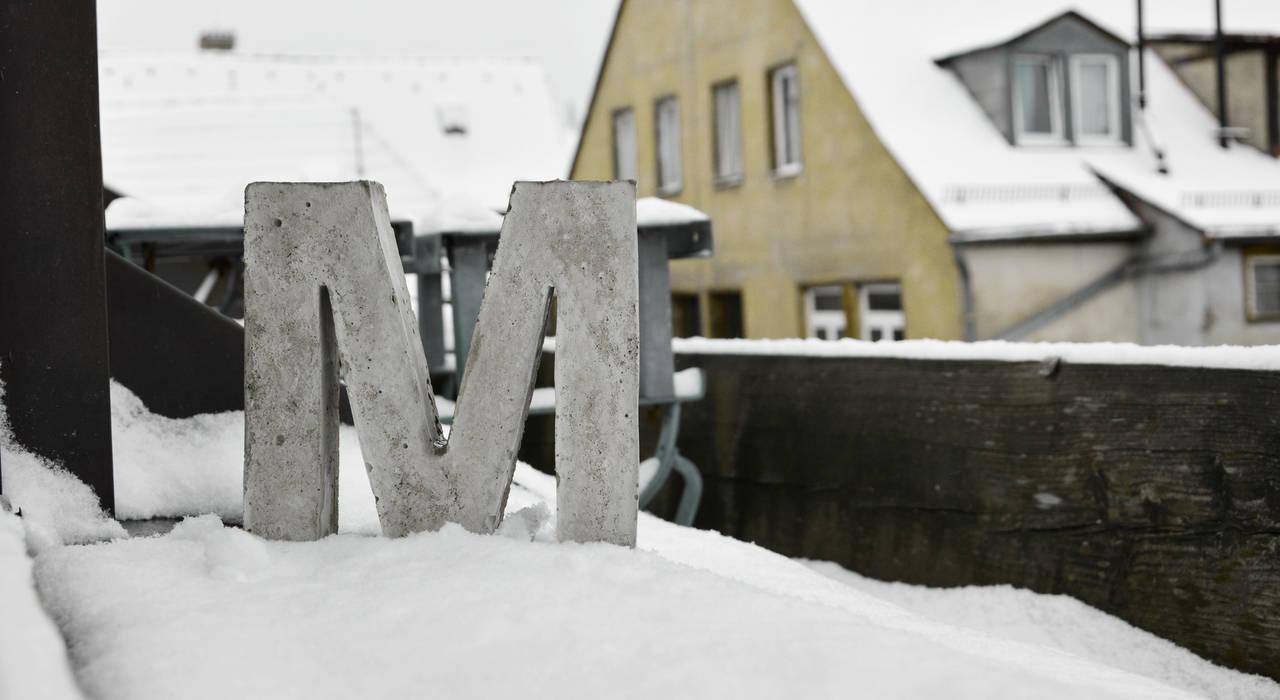 Betonbuchstabe: modern  von mx | living,Modern