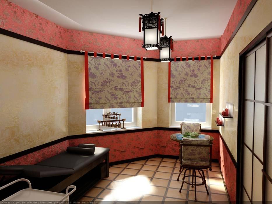 Массажный кабинет в Китайском стиле.: Спа в . Автор – Цунёв_Дизайн. Студия интерьерных решений.