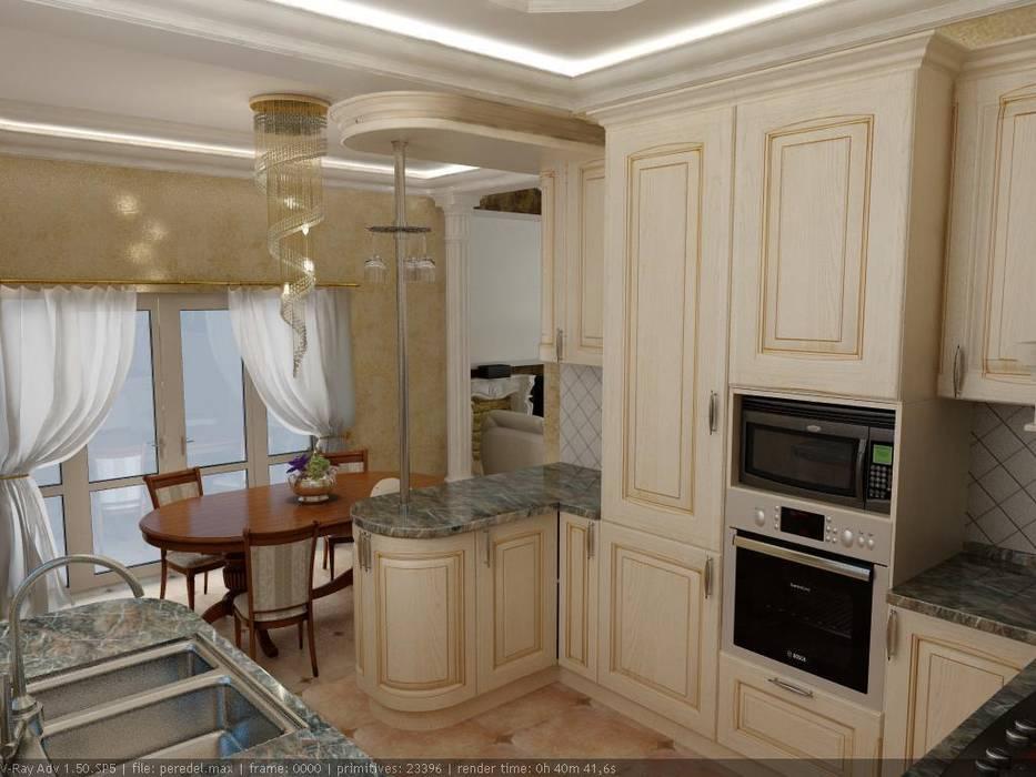 Частный дом г. Невинномысск. Кухня: Кухни в . Автор – Дизайн студия 'Exmod' Павел Цунев