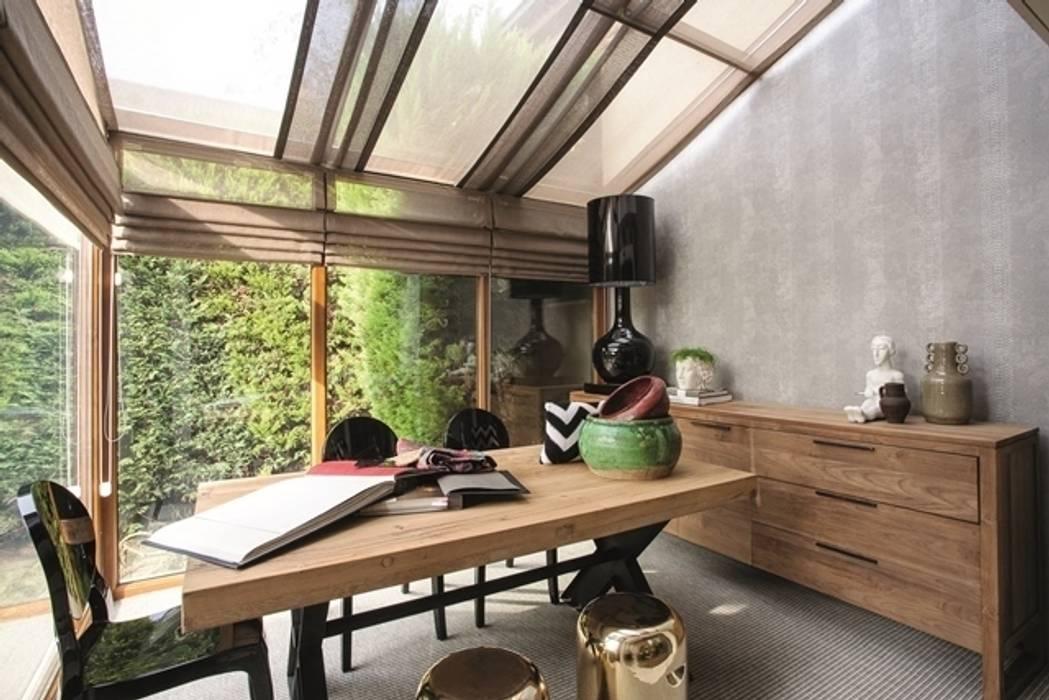 Projekty,  Domowe biuro i gabinet zaprojektowane przez homify, Egzotyczny