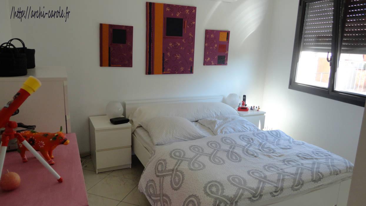 Chambre moderne: Chambre de style de style Moderne par Architecte Egrefeuille Carole