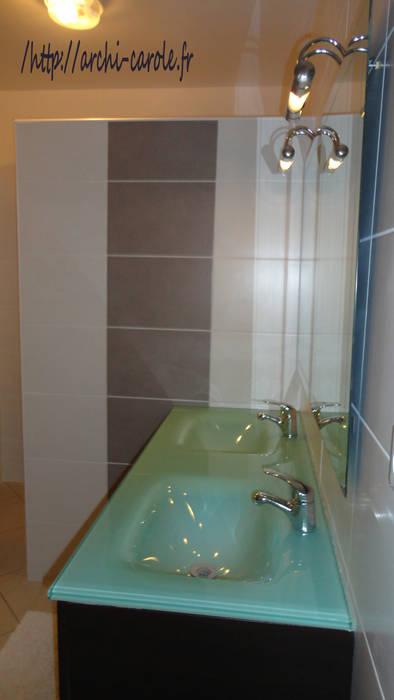 Salle d'eau: Salle de bains de style  par Architecte Egrefeuille Carole