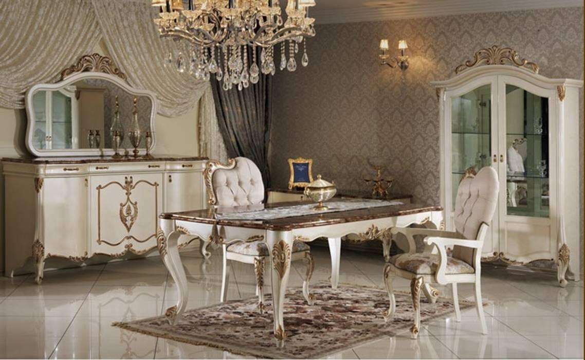 DİLARA YEMEK ODASI TAKIMI Klasik Yemek Odası Asortie Mobilya Dekorasyon Aş. Klasik