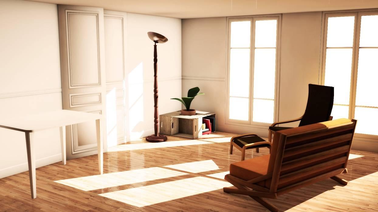 Un même environnement sous divers éclairages (1): Salon de style de style Classique par PiLe