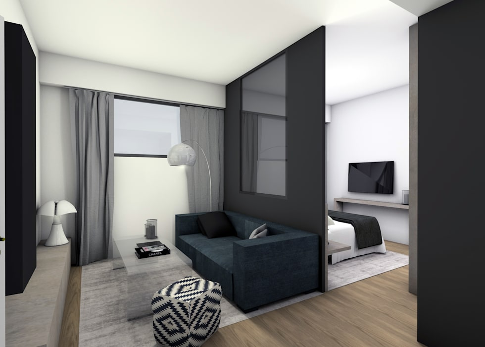 STUDIO M Salon moderne par EVA MYARD interior Moderne