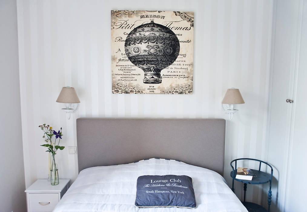 Mieszkanie letnie. Śródziemnomorska sypialnia od Miśkiewicz Design Śródziemnomorski