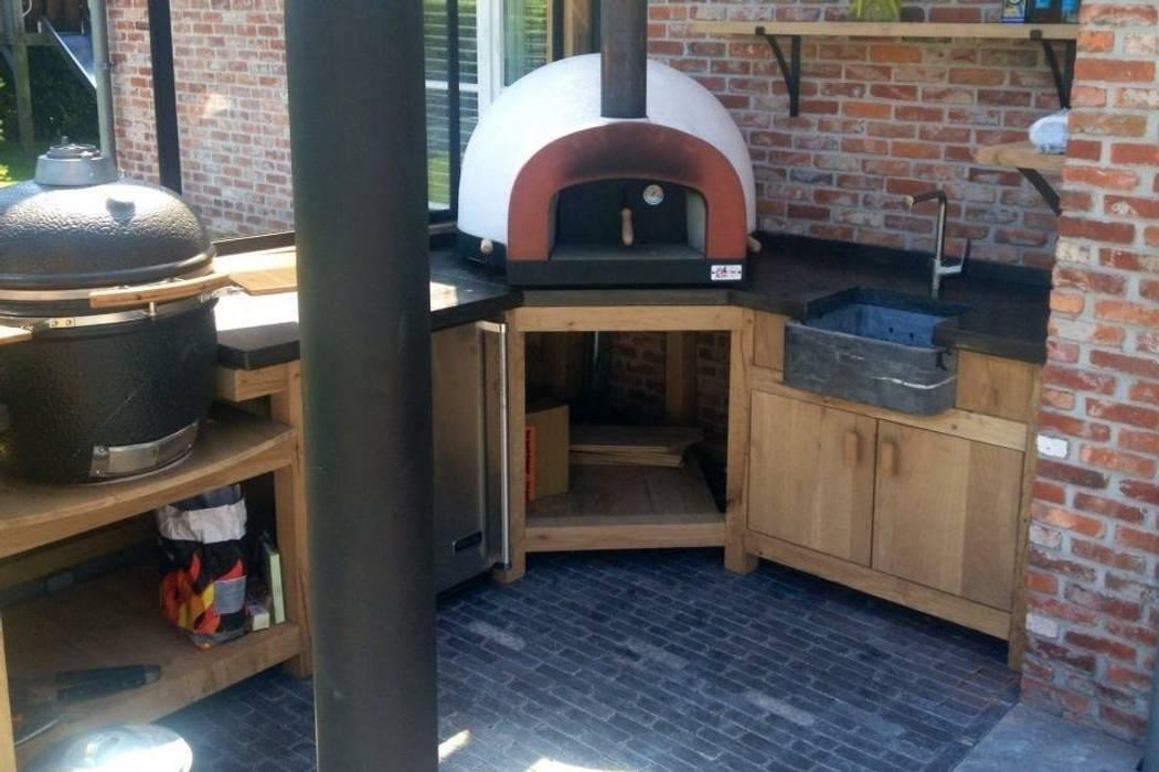 Pizzaoven in buitenkeuken tuin door stam hoveniers homify