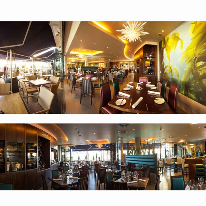Zephyr Restaurant, Royal Yacht Hotel, Jersey Modern hotels by IDP Design Modern