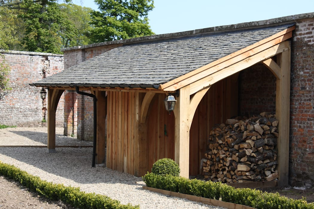 Oak Framed Lean-too Rustic style hotels by Architects Scotland Ltd Rustic