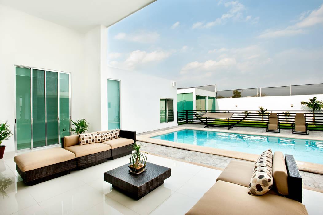 Terraza Balcones y terrazas modernos de Arturo Campos Arquitectos Moderno