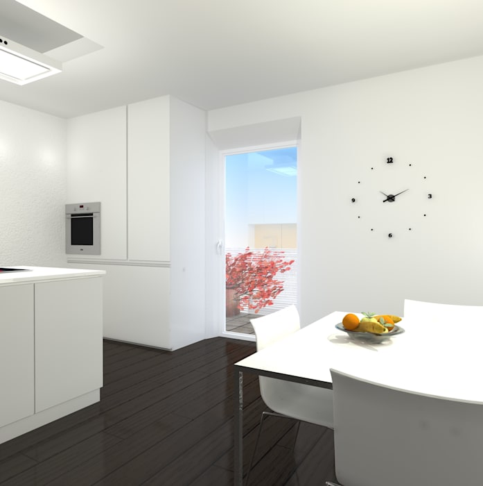 Cucina_1: Cucina in stile in stile Minimalista di Arch. Tommaso Rossi