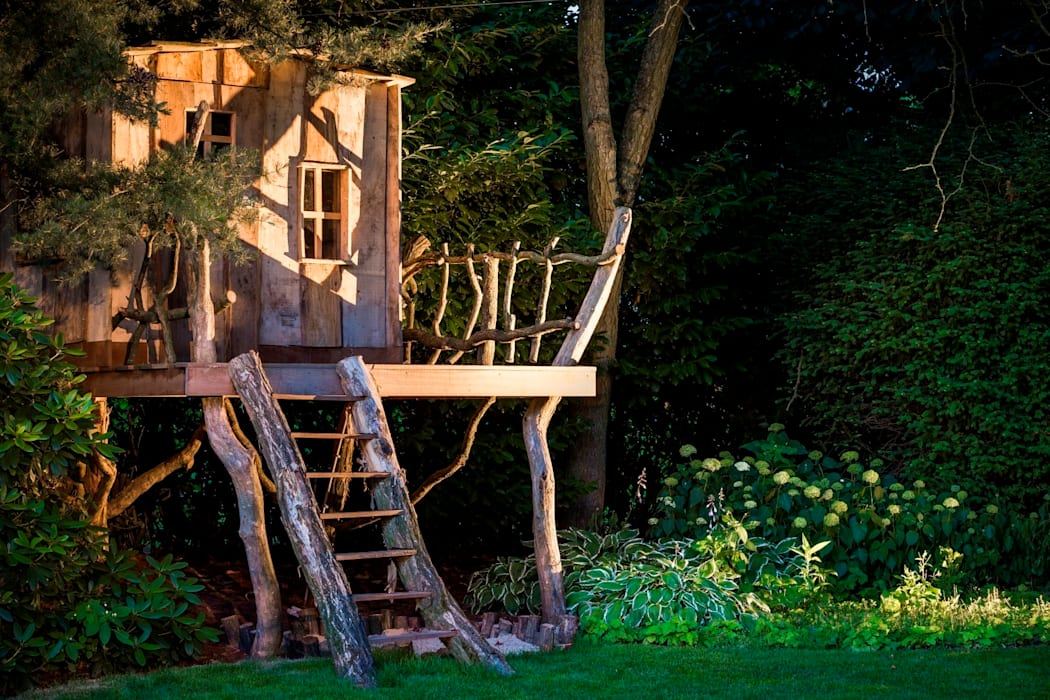 Rustic style garden by Kabaz Rustic
