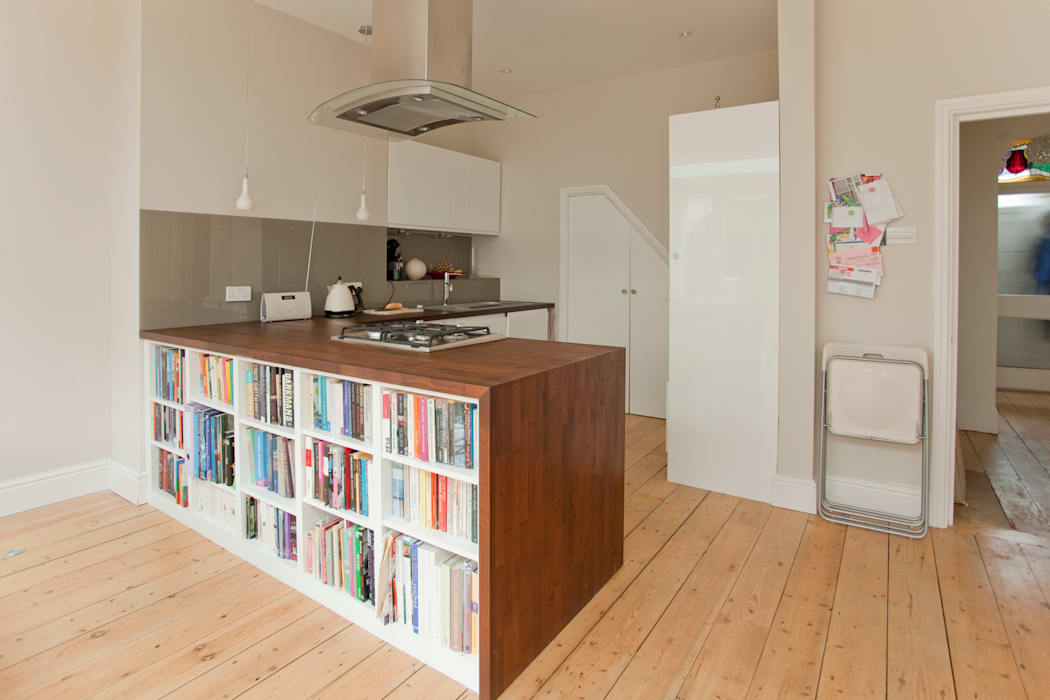 Rear extension and remodelling in Central Bristol:  Kitchen by Dittrich Hudson Vasetti Architects