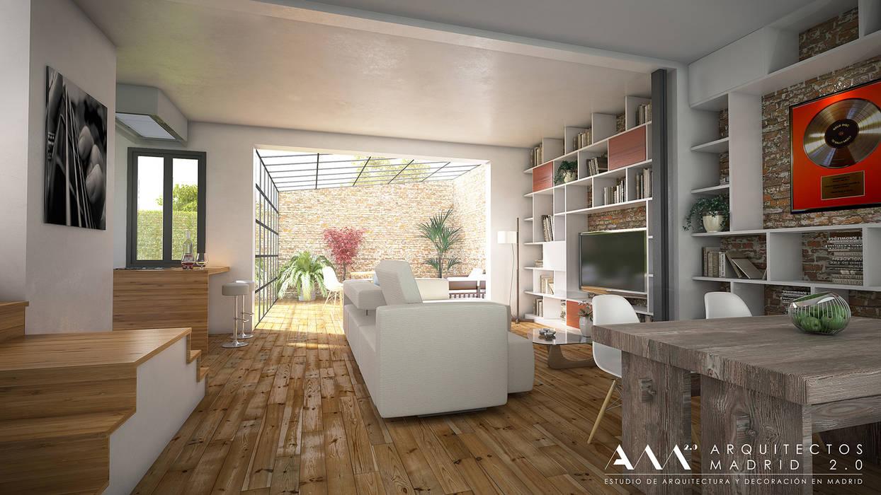 Salas recibidores de estilo industrial por arquitectos madrid 2 0 homify - Arquitecto de interiores madrid ...