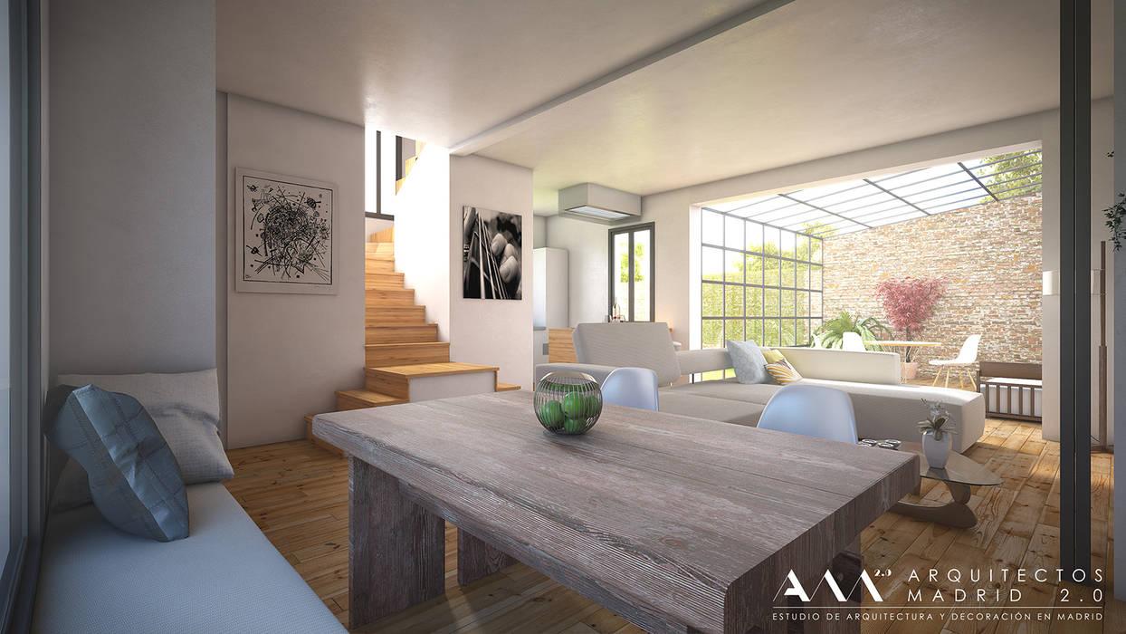 Salas / recibidores de estilo  por Arquitectos Madrid 2.0