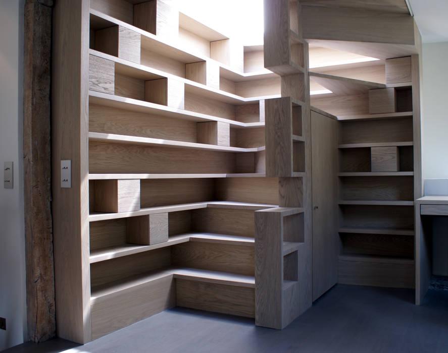 Escalier d'accès à la terrasse Couloir, entrée, escaliers modernes par Atelier TO-AU Moderne